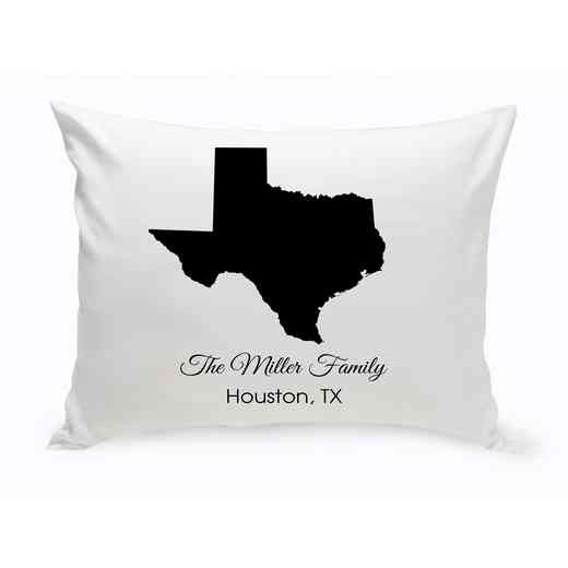 GC1380-TX: Blk Prsnlzed Home St.ThrowPillow Texas